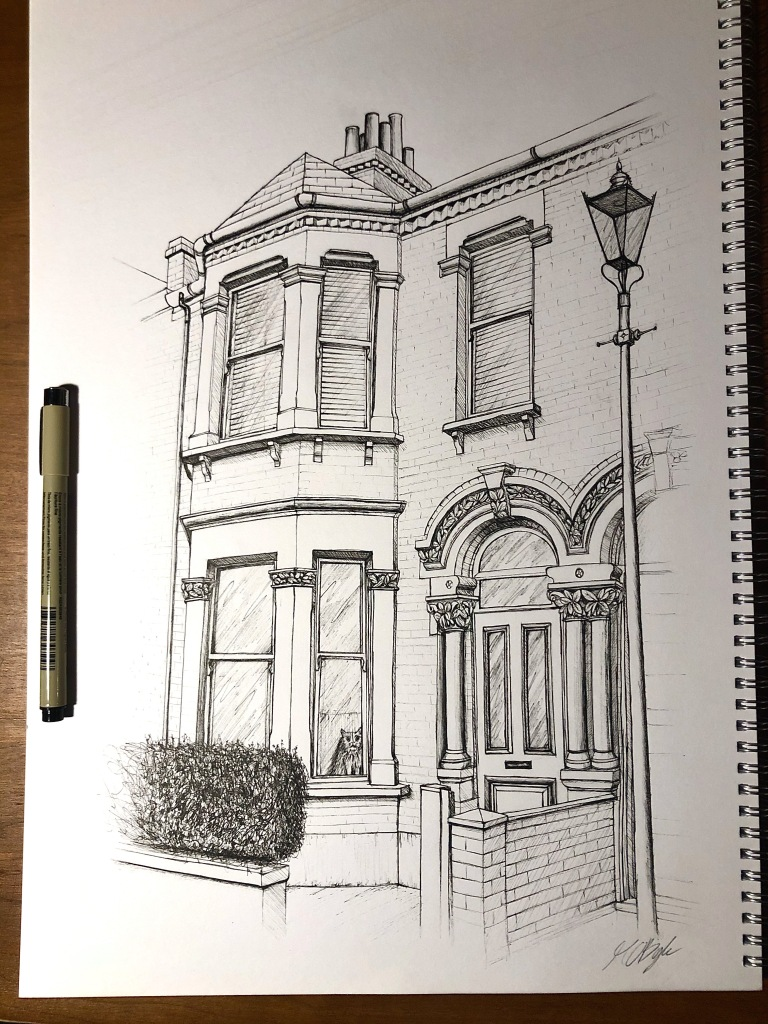 House, Brixton. Illustration by Henry O'Boyle. Article Explore the Mesmerising World of Hand-Drawn Brixton by Creative Londoners.