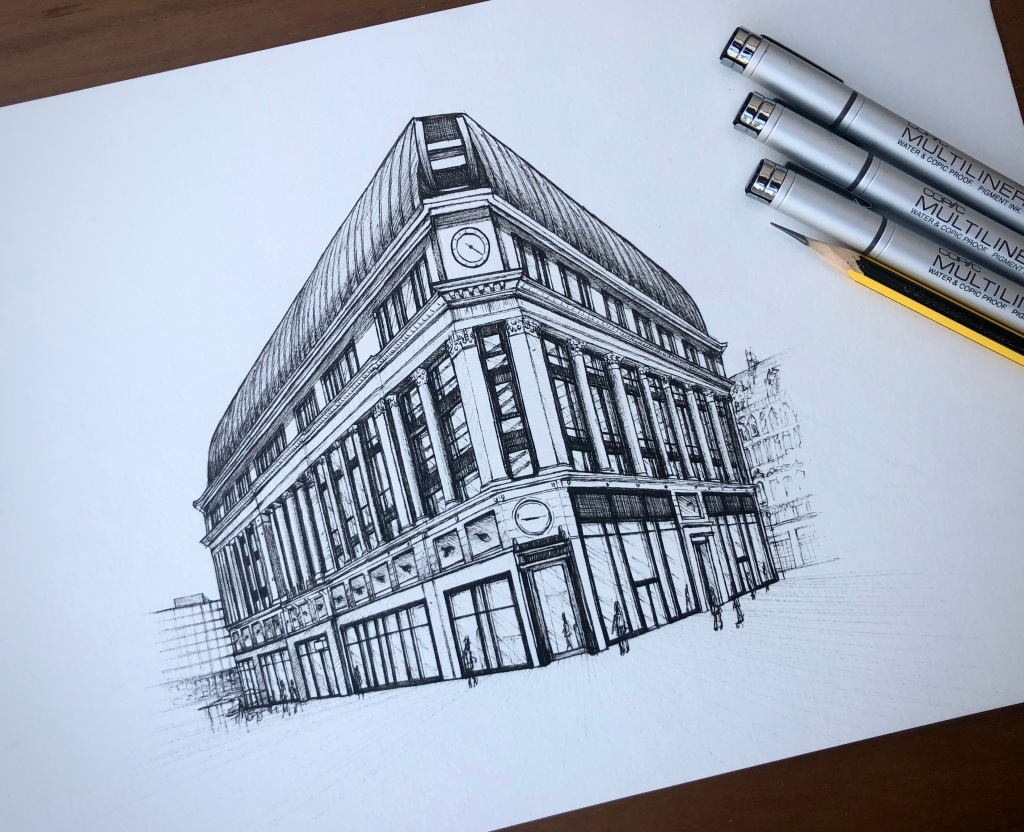 LSQ, Leicester Square. Canada One. Illustration by Henry O'Boyle. Article Explore the Mesmerising World of Hand-Drawn Brixton by Creative Londoners.